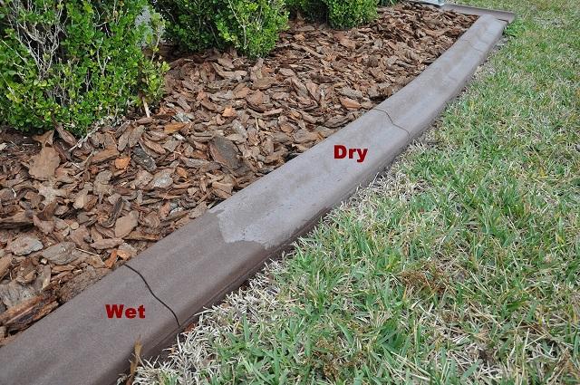 Concrete Curbing Wet